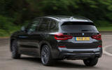 BMW X3 M40i 2018 UK review on the road rear