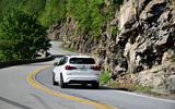 BMW X3 M Competition 2019 first drive review - cornering rear