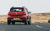Dacia Sandero Stepway Techroad 2019 first drive review - on the road rear