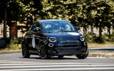 Fiat 500 electric 2021 first drive review - cornering front