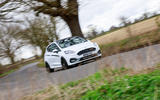 Ford Fiesta ST Mountune m235 2020 first drive review - on the road front
