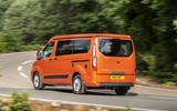 18 Ford Transit Nugget 2021 UK FD on road rear