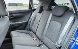 18 Hyundai Bayon 2021 UK FD rear seats
