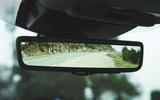 Jaguar XE P300 2019 first drive review - rear view mirror