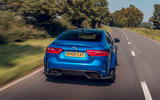 Jaguar XE SV Project 8 Touring 2019 UK first drive review - on the road rear