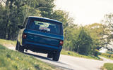 18 JIA Range Rover Chieftain 2021 UK FD cornering rear