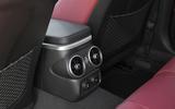Kia Stinger 2.2 CRDi 2018 UK review rear aircon