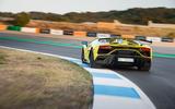 Lamborghini Aventador SVJ 2018 first drive review track cornering rear