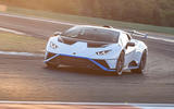 18 Lamborghini Huracan STO 2021 FD cornering front