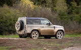 Land Rover Defender 90 P400 X 2020 UK first drive review - offroad rear