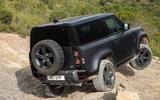 18 Land Rover Defender V8 2021 UK FD offroad rear