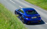 Lexus RC F with track pack 2019 first drive review - on the road rear
