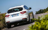 Maserati Levante Gransport 2018 UK first drive review cornering rear