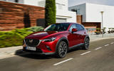 Mazda CX-3 2018 first drive review on the road front right