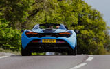 McLaren 720S Spider 2019 UK first drive - on the road rear
