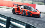 McLaren Senna 2018 UK first drive review cornering front