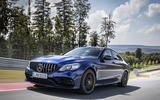 Mercedes-AMG C63 2018 first drive review track driving front
