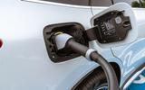 Mercedes-Benz EQC 400 2019 UK first drive review - charging socket