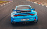 18 Porsche 911 GT3 2021 UK first drive review track rear