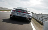 Porsche 911 Turbo S 2020 first drive review - track rear