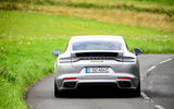 Porsche Panamera e-Hybrid 2020 UK first drive review - on the road rear
