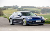 18 Porsche Panamera Turbo S E Hybrid ST 2021 UK FD cornering front