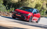 Toyota Corolla hybrid hatchback 2019 first drive review - cornering front