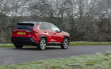 18 Toyota RAV4 PHEV 2021 UK first drive review on road rear