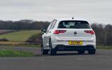 18 Volkswagen Golf GTD 2021 UK first drive review cornering rear