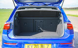 18 Volkswagen Golf R 2021 UK first drive review rear seats