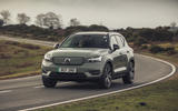 18 Volvo XC40 Recharge P8 2021 UK first drive review on road front