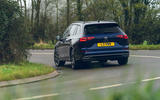 18 VW Golf Estate 2021 UK FD cornering rear