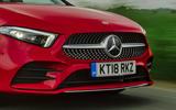 Mercedes-Benz A-Class A250 2018 UK review front bumper close-up