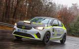 Vauxhall Corsa-e rally car front