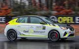 Vauxhall Corsa-e rally car side
