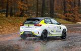 Vauxhall Corsa-e rally car rear