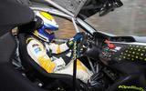 Vauxhall Corsa-e rally car interior