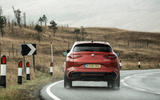 Alfa Romeo Stelvio Quadrifoglio 2018 UK RHD first drive - cornering rear