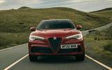 Alfa Romeo Stelvio Quadrifoglio 2020 UK first drive review - on the road nose