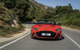 Aston Martin DBS Superleggera Volante 2019 first drive review - on the road nose