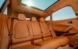 Aston Martin DBX 2020 UK first drive review - rear seats