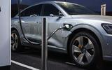 Audi E-tron Sportback 55 2020 UK first drive review - charging