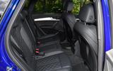 19 Audi SQ5 TDI 2021 UK FD rear seats