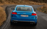 Audi TTS 2018 first drive review on the road rear