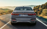 BMW 7 Series 750Li 2019 first drive review - on the road rear