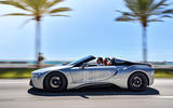 BMW i8 Roadster 2018 first drive review on the road left