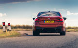 BMW M5 Competition 2020 UK first drive review - on the road rear