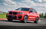 BMW X4 M Competition 2019 first drive review - track front