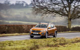 19 Dacia Sandero Stepway 2021 UK first drive review on road front