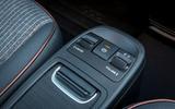 2021 Fiat 500 electric left-hand drive UK review - centre console